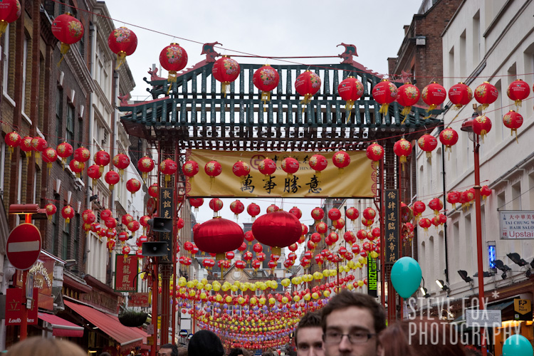 Chinese New Year 2011, London, England | Lanterns in Gerrad Street
