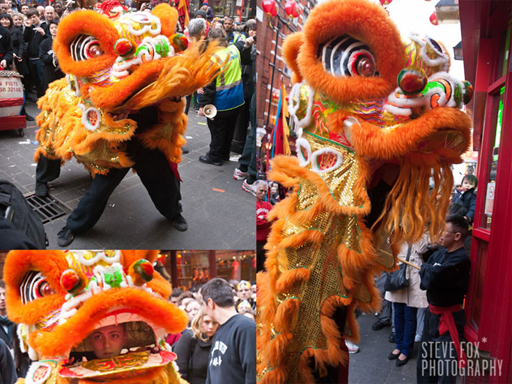 Lion Dance at Chinese New Year, London 2011